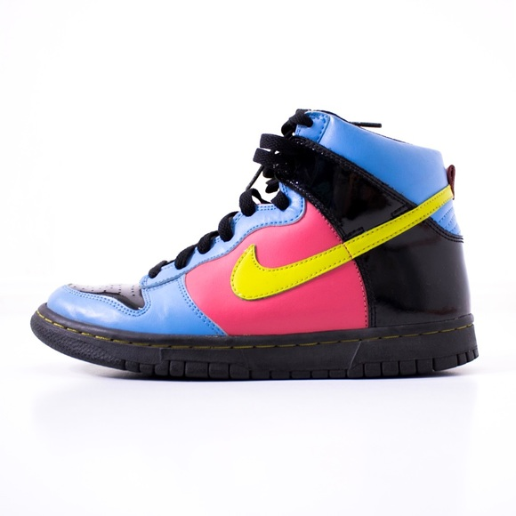 Nike Other - Nike | youth dunk high patent leather sneakers 5.5